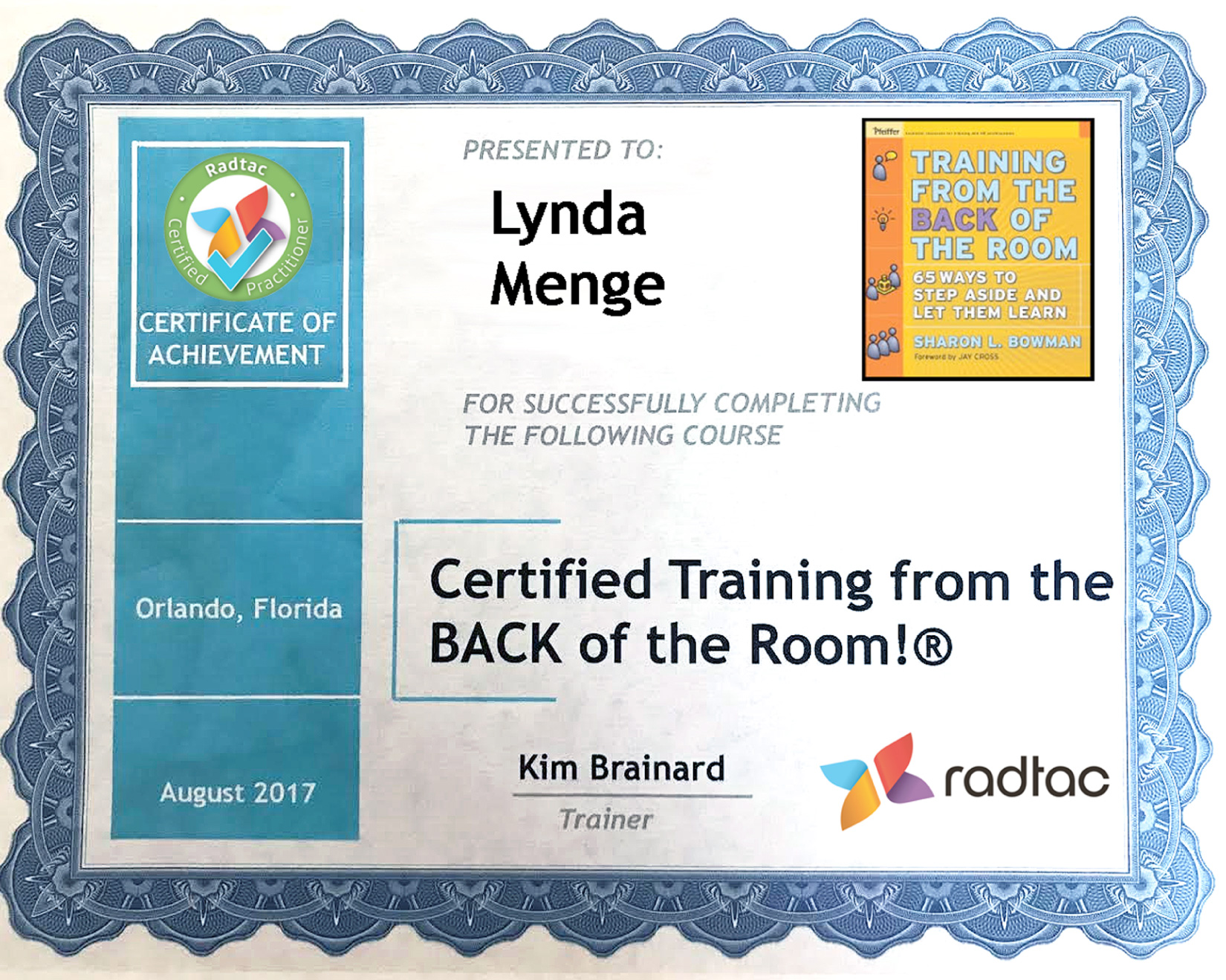 Training From The Back Of The Room - Lynda Menge
