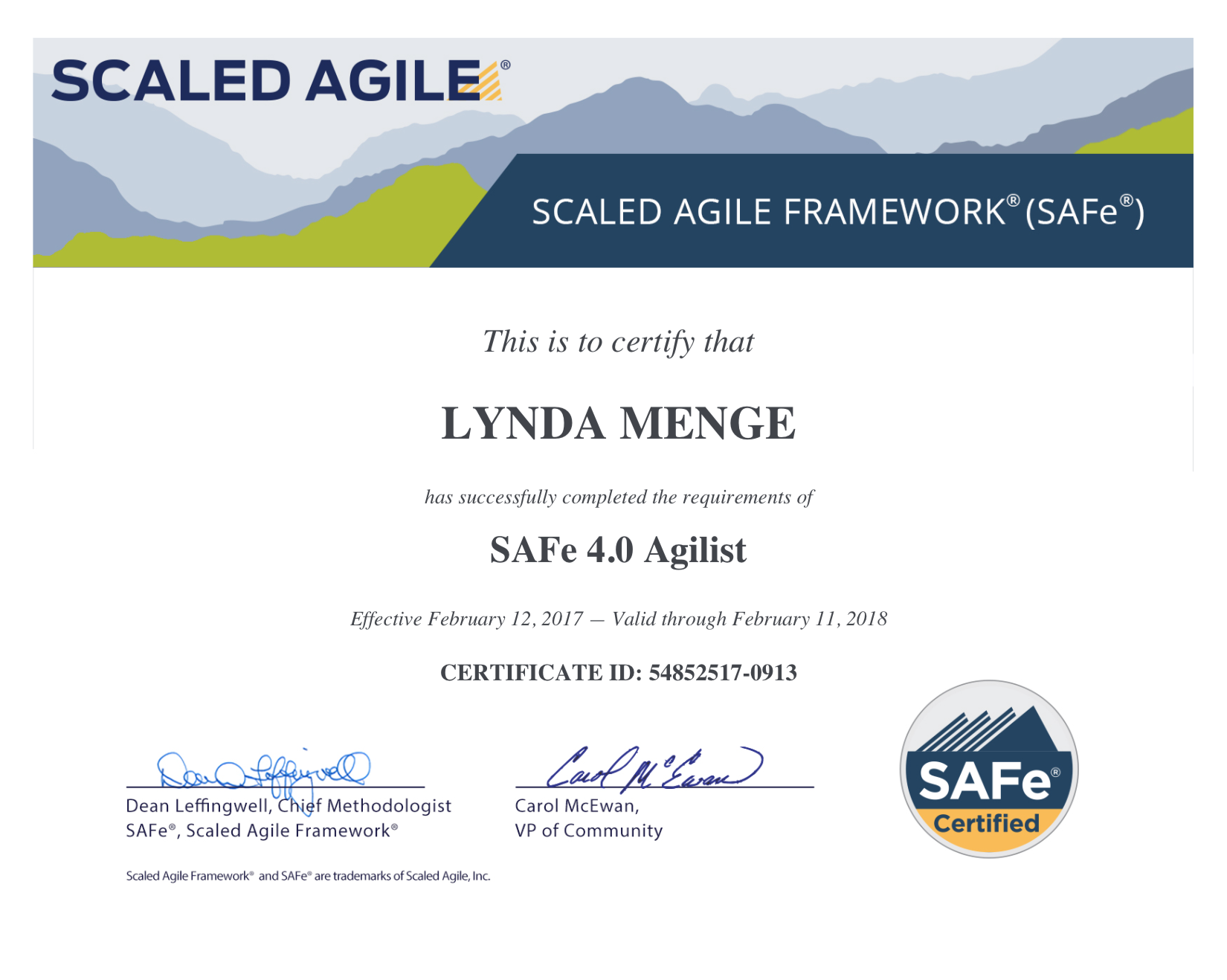 Safe 40 With Sa Certification Articulate Agile